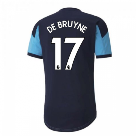 2020-2021 Manchester City Puma Training Shirt (Light Blue) (DE BRUYNE 17)