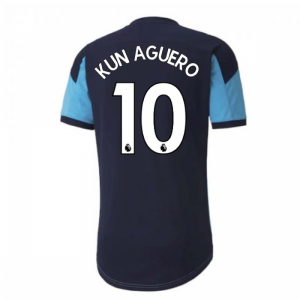 2020-2021 Manchester City Puma Training Shirt (Light Blue) (KUN AGUERO 10)