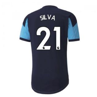 2020-2021 Manchester City Puma Training Shirt (Light Blue) (SILVA 21)