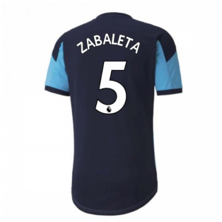 2020-2021 Manchester City Puma Training Shirt (Light Blue) (ZABALETA 5)