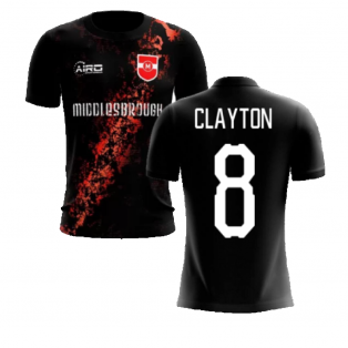 2020-2021 Middlesbrough Third Concept Football Shirt (Clayton 8) - Kids