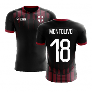 2020-2021 Milan Pre-Match Concept Football Shirt (MONTOLIVO 18)