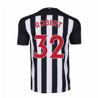 2020-2021 Newcastle Home Football Shirt (ROBERT 32)
