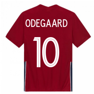 2020-2021 Norway Home Nike Football Shirt (Kids) (ODEGAARD 10)
