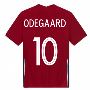2020-2021 Norway Home Nike Football Shirt (ODEGAARD 10)