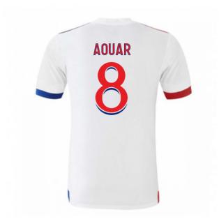 2020-2021 Olympique Lyon Adidas Home Football Shirt (Kids) (AOUAR 8)
