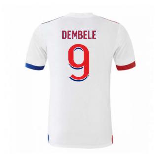 2020-2021 Olympique Lyon Adidas Home Football Shirt (Kids) (DEMBELE 9)
