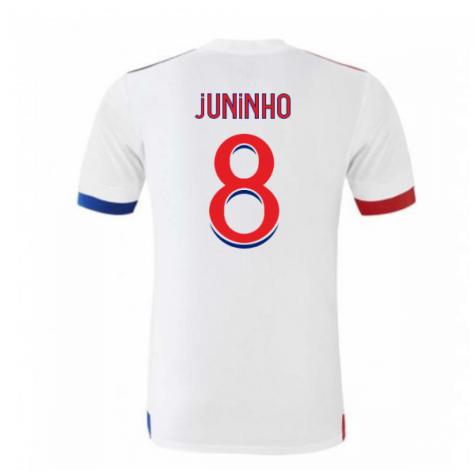 2020-2021 Olympique Lyon Adidas Home Football Shirt (Kids) (JUNINHO 8)