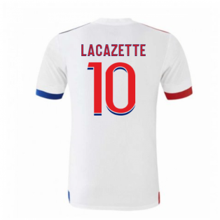 2020-2021 Olympique Lyon Adidas Home Football Shirt (Kids) (LACAZETTE 10)