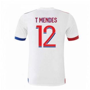 2020-2021 Olympique Lyon Adidas Home Football Shirt (Kids) (T MENDES 12)
