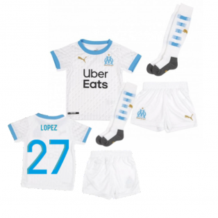 2020-2021 Olympique Marseille Home Little Boys Mini Kit (LOPEZ 27)