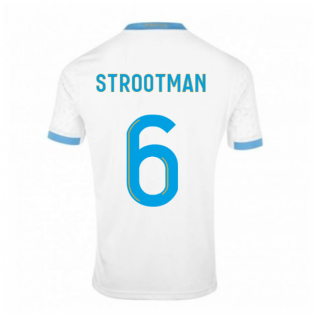 2020-2021 Olympique Marseille Puma Home Football Shirt (STROOTMAN 6)
