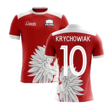2020-2021 Poland Away Concept Football Shirt (Krychowiak 10) - Kids