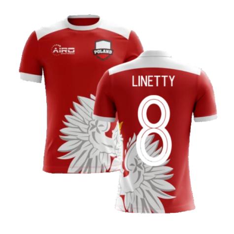 2020-2021 Poland Away Concept Football Shirt (Linetty 8)