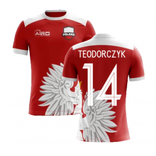 2020-2021 Poland Away Concept Football Shirt (Teodorczyk 14) - Kids