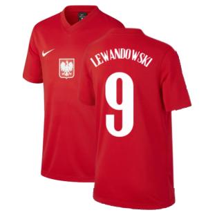 2020-2021 Poland Away Supporters Jersey (Kids) (LEWANDOWSKI 9)