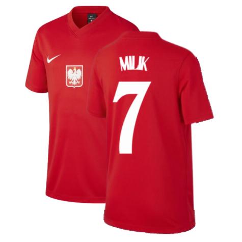 2020-2021 Poland Away Supporters Jersey (Kids) (MILIK 7)