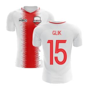 2020-2021 Poland Home Concept Football Shirt (Glik 15) - Kids