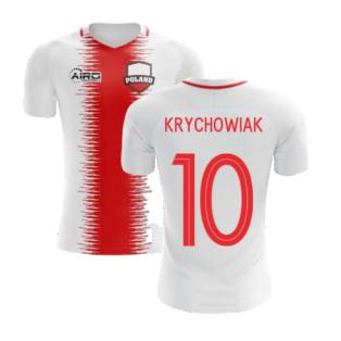 2020-2021 Poland Home Concept Football Shirt (Krychowiak 10) - Kids