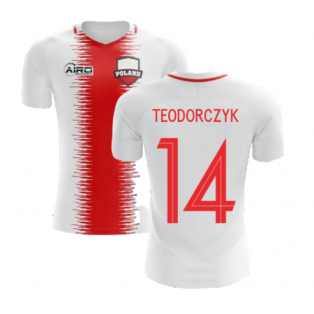 2020-2021 Poland Home Concept Football Shirt (Teodorczyk 14) - Kids