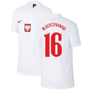2020-2021 Poland Home Supporters Jersey - Kids (BLASZCZYKOWSKI 16)
