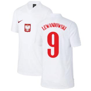 2020-2021 Poland Home Supporters Jersey - Kids (LEWANDOWSKI 9)