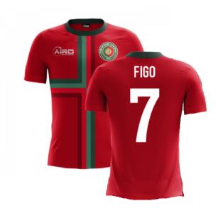 2020-2021 Portugal Airo Concept Home Shirt (Figo 7) - Kids