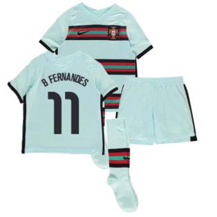 2020-2021 Portugal Away Nike Mini Kit (B Fernandes 11)