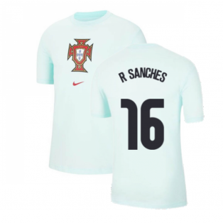 2020-2021 Portugal Evergreen Crest Tee (Mint) (R SANCHES 16)