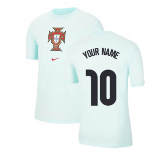 2020-2021 Portugal Evergreen Crest Tee (Mint) (Your Name)