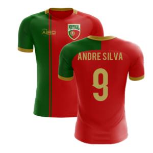 2020-2021 Portugal Flag Home Concept Football Shirt (Andre Silva 9)