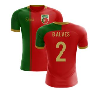 2020-2021 Portugal Flag Home Concept Football Shirt (B Alves 2) - Kids