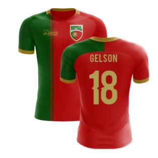 2020-2021 Portugal Flag Home Concept Football Shirt (Gelson 18) - Kids