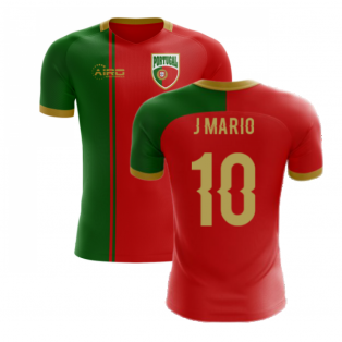 2020-2021 Portugal Flag Home Concept Football Shirt (J Mario 10) - Kids