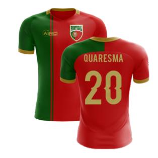 2020-2021 Portugal Flag Home Concept Football Shirt (Quaresma 20) - Kids