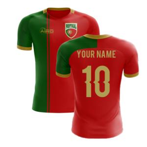 2020-2021 Portugal Flag Home Concept Football Shirt