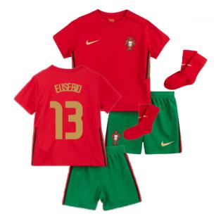 2020-2021 Portugal Home Nike Baby Kit (EUSEBIO 13)