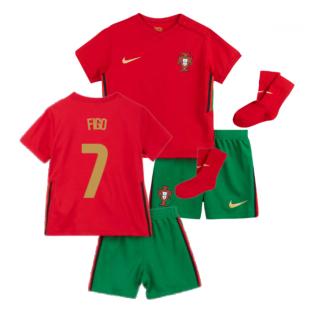2020-2021 Portugal Home Nike Baby Kit (FIGO 7)