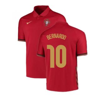 2020-2021 Portugal Home Nike Football Shirt (Bernardo 10)