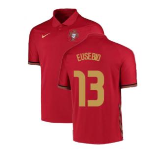 2020-2021 Portugal Home Nike Football Shirt (EUSEBIO 13)