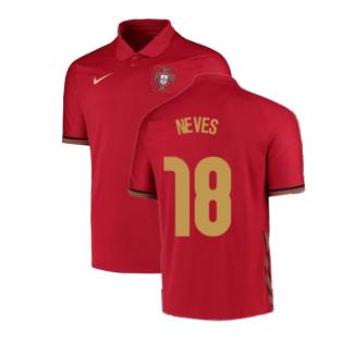 2020-2021 Portugal Home Nike Football Shirt (Neves 18)
