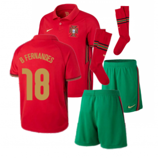 2020-2021 Portugal Home Nike Mini Kit (B Fernandes 18)
