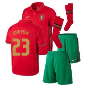 2020-2021 Portugal Home Nike Mini Kit (Joao Felix 23)