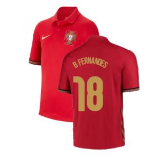2020-2021 Portugal Home Nike Shirt (Kids) (B Fernandes 18)