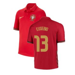 2020-2021 Portugal Home Nike Shirt (Kids) (EUSEBIO 13)