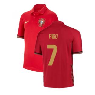 2020-2021 Portugal Home Nike Shirt (Kids) (FIGO 7)