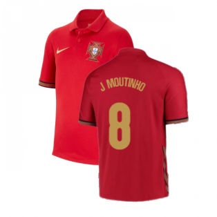 2020-2021 Portugal Home Nike Shirt (Kids) (J Moutinho 8)