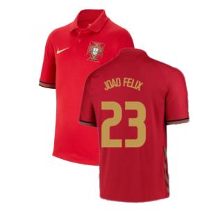 2020-2021 Portugal Home Nike Shirt (Kids) (Joao Felix 23)