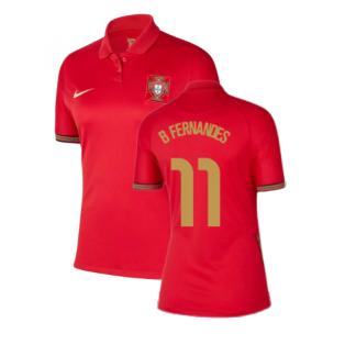 2020-2021 Portugal Home Nike Womens Shirt (B Fernandes 11)