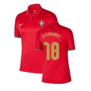 2020-2021 Portugal Home Nike Womens Shirt (B Fernandes 18)